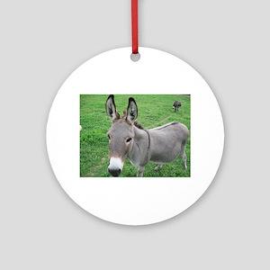 Miniature Donkey Ornament (Round)