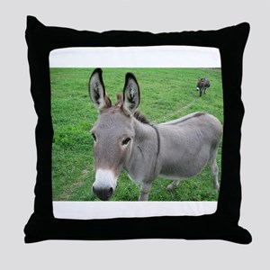 Miniature Donkey Throw Pillow