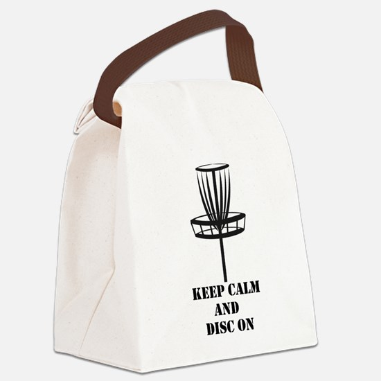 Keep Calm and Disc On Canvas Lunch Bag