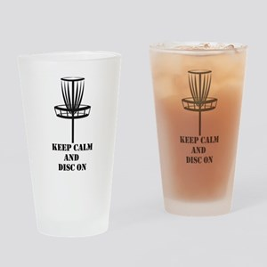 Keep Calm and Disc On Drinking Glass