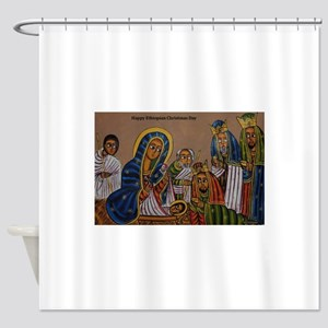 Ethiopian Christmas Day Shower Curtain