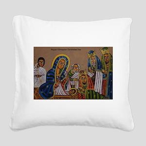 Ethiopian Christmas Day Square Canvas Pillow