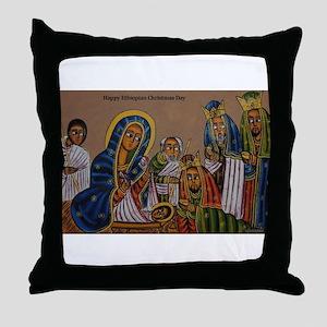 Ethiopian Christmas Day Throw Pillow