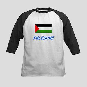 Palestine Flag Artistic Blue Desig Baseball Jersey