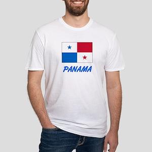 Panama Flag Artistic Blue Design T-Shirt