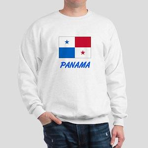 Panama Flag Artistic Blue Design Sweatshirt