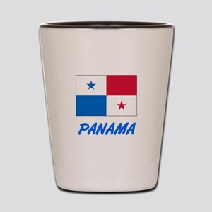 Panama Flag Artistic Blue Design Shot Glass
