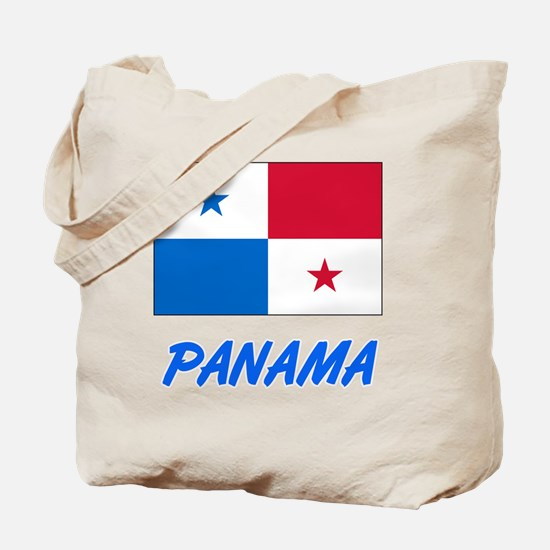 Panama Flag Artistic Blue Design Tote Bag