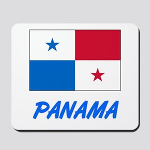 Panama Flag Artistic Blue Design Mousepad