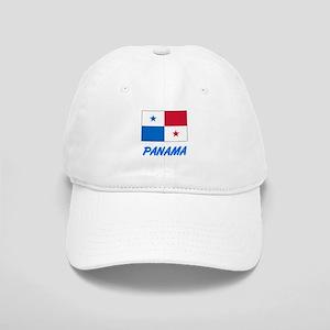 Panama Flag Artistic Blue Design Cap