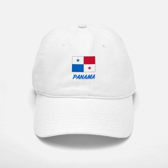 Panama Flag Artistic Blue Design Baseball Baseball Cap