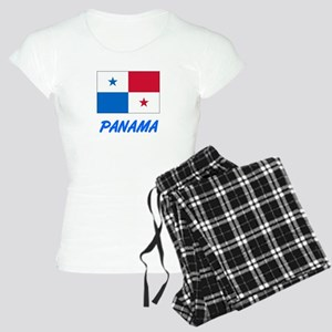 Panama Flag Artistic Blue Design Pajamas