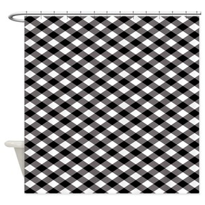 Black And White Checkered Shower Curtains