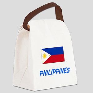 Philippines Flag Artistic Blue De Canvas Lunch Bag