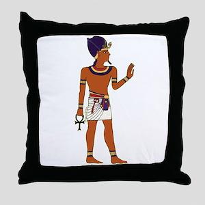 Pharaoh Hieroglyph Throw Pillow