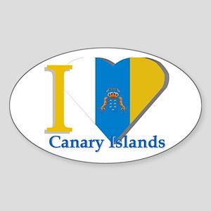 I love Canary Islands Sticker (Oval)
