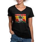 Bong TV Women's V-Neck Dark T-Shirt