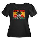 Bong TV Women's Plus Size Scoop Neck Dark T-Shirt