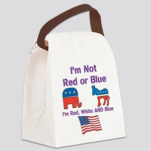 Not Red or Blue Canvas Lunch Bag