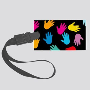 AllOver Hands Large Luggage Tag