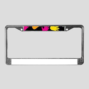 AllOver Hands License Plate Frame