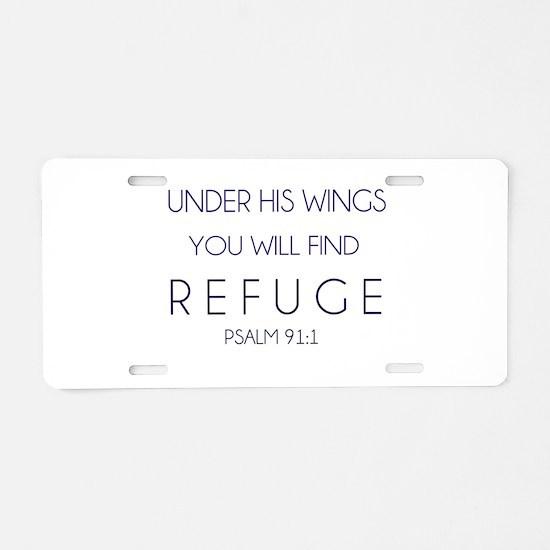 Find Refuge Aluminum License Plate