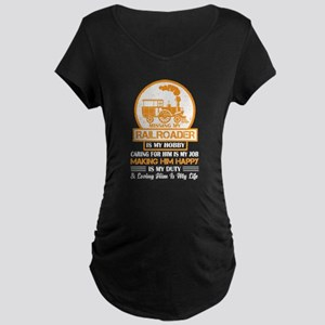Missing My Railroader T Shirt Maternity T-Shirt