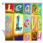 Colorful Inspirational Abstract Shower Curtain