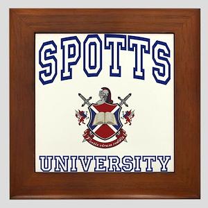 SPOTTS University Framed Tile