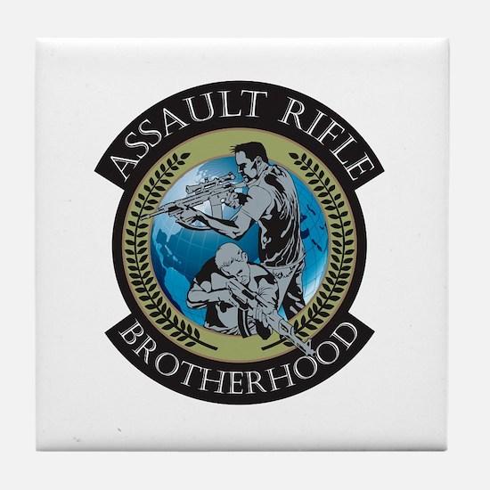 Assault Rifle Brotherhood Tile Coaster