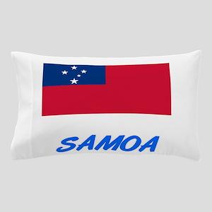 Samoa Flag Artistic Blue Design Pillow Case