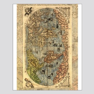 World Map Vintage Atlas Historical Posters