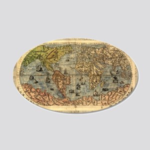 World Map Vintage Atlas Historical Wall Decal
