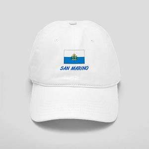 San Marino Flag Artistic Blue Design Cap