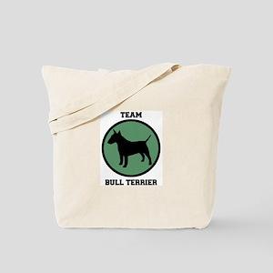 Team  Bull Terrier (green) Tote Bag