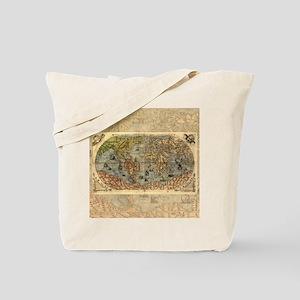 World Map Vintage Atlas Historical Tote Bag