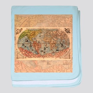 World Map Vintage Atlas Historical baby blanket