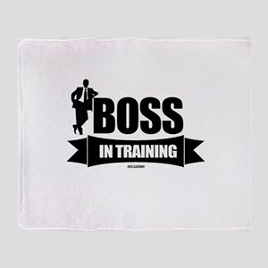 Boss In Training Throw Blanket