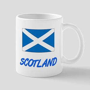Scotland Flag Artistic Blue Design Mugs