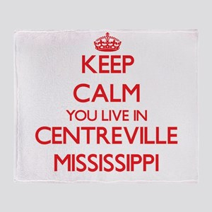 Keep calm you live in Centreville Mi Throw Blanket