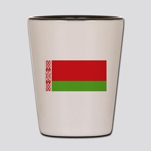 Belarus flag Shot Glass