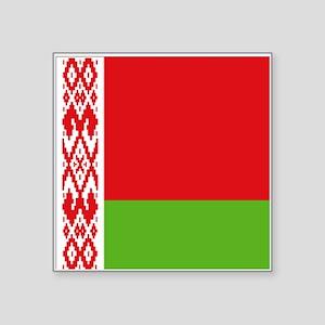 "Belarus flag Square Sticker 3"" x 3"""