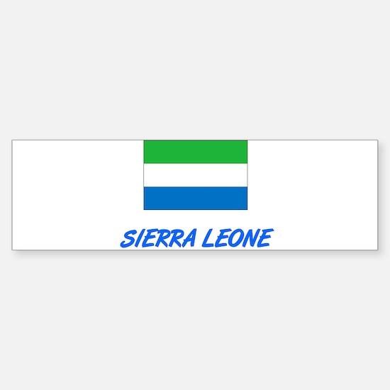 Sierra Leone Flag Artistic Blue Des Bumper Bumper Bumper Sticker