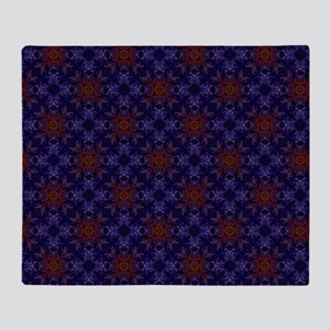 Gorgeous Deep Purple Abstract Patter Throw Blanket