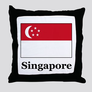 Singaporean Heritage Singapor Throw Pillow