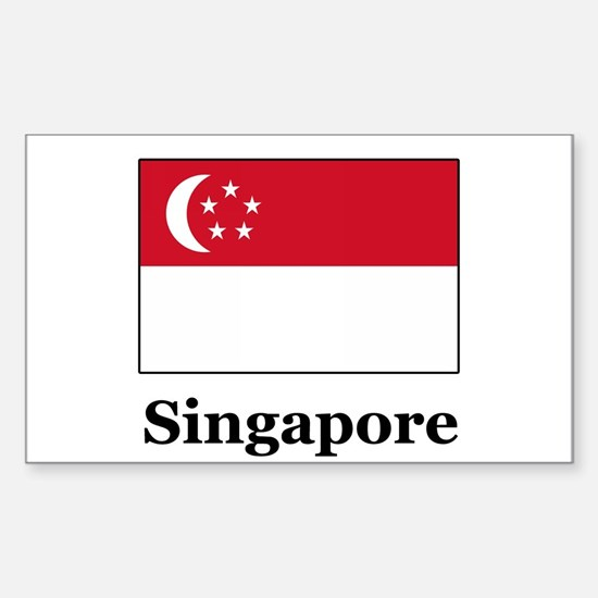 Singaporean Heritage Singapor Sticker (Rectangular