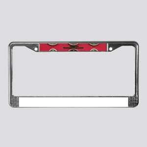 Fire Truck Gauges License Plate Frame