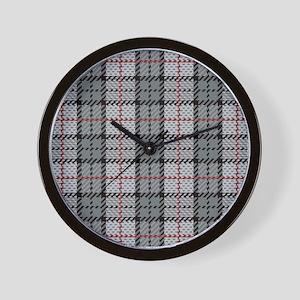 Grey Pixel Plaid Wall Clock