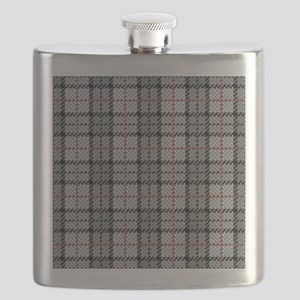 Grey Pixel Plaid Flask