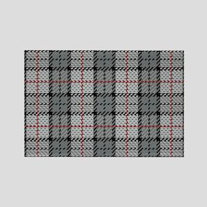 Grey Pixel Plaid Magnets